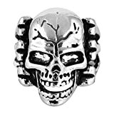 Sorella'Z Silver Zinc Alloy Crack Skull ...