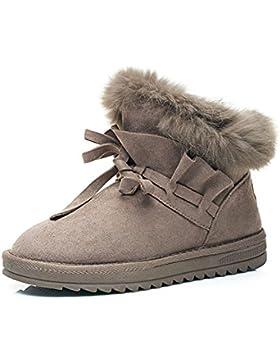 KUKI Botas de nieve, zapatos para la nieve, zapatos de algodón calientes, algodón de nieve, tubo corto, además...