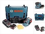 Bosch Professional GSS 18 V-10 Akku Schwingschleifer in L-Boxx + 2 x GBA 3,0 Ah Akku + GAL 1880 CV Schnellladegerät