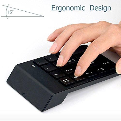 Segolike 18 Keys Bluetooth Numeric Mini Keypad/Keyboard for iMac Laptop Sumsung Phone