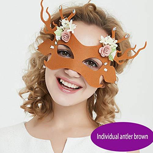 Daqin Halloween Party Fun Hollow Adulto Mujeres Medio Cara Gafas Mascarada Sexy...