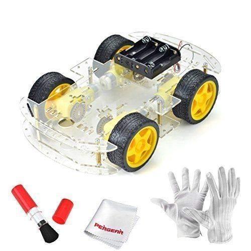 4-wheel Robot Smart Car Chassis Kits car with Speed Encoder for Arduino, [Importado de Reino Unido]