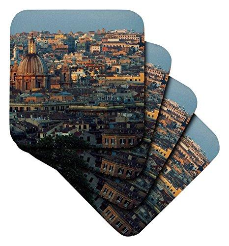 3drose-italy-rome-piazza-garibaldi-janiculum-city-at-sunset-ceramic-tile-coasters-set-of-4-cst-20642
