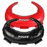 Bulgarien Gewichts Bag Sandsack Kunstleder 5 kg, 8 kg, 12 kg, 17 kg, 22 kg Powrx Functional Fitness (Schwarz, 12 kg)