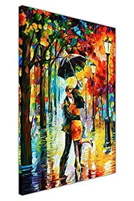 New Abstract Dance Under The Rain By Leonid Afremov On Canvas Picture Wall Prints Modern Art Posters
