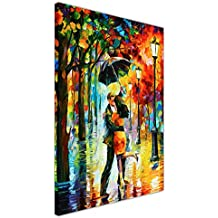 "Canvas It Up - Quadri a stampa su tela, ""Dance under the rain"" (ballo sotto la pioggia) di Leonid Afremov, astratto, formato poster Contemporaneo 04- 30"" X 20"" (76CM X 50CM)"
