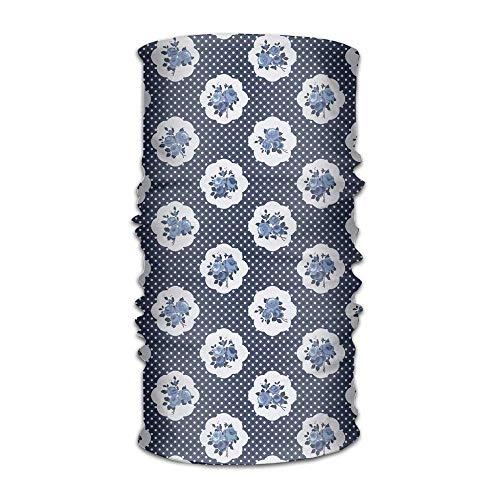4afaa334 Womans Mans Turban Feminine Pattern Curvy Frames Motifs with English Roses  Polka Dots Fashion Headpiece