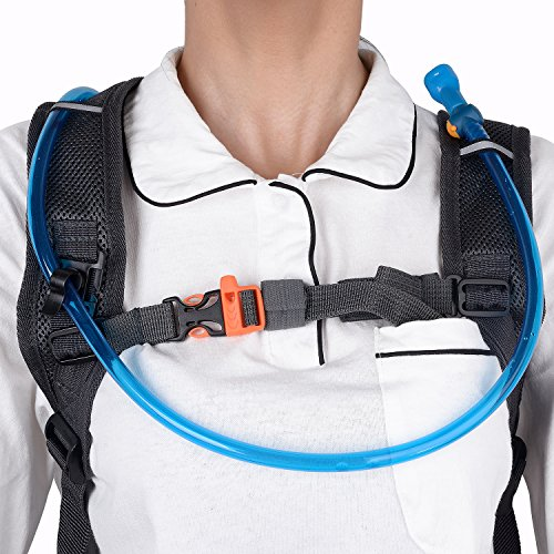 Hydration Rucksack Trinkrucksack(12L) mit Trinkblase(2L) Pack,Trinksystem Backpack - 5