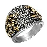 Epinki Edelstahl Ringe Gold Schwarz Cubic Zirkonia Skorpion Ringe Herrenringe Einzigartig Band Gr.62 (19.7)