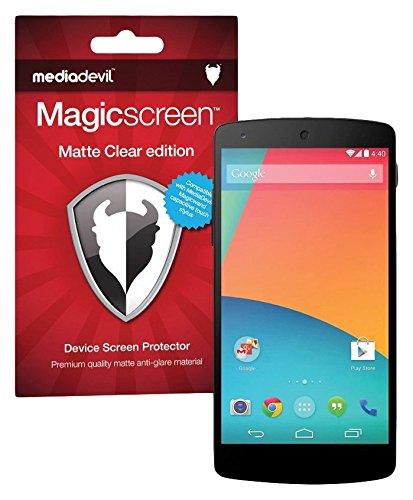 Matte Clear Anti-glare (MediaDevil Google Nexus 5 (2013) Displayschutzfolie: Magicscreen Matte Clear (Blendschutz) Edition [2 Stück])