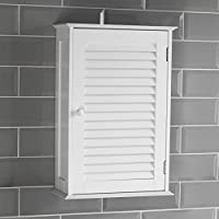 Home Discount Bathroom Cabinet Single Door Shutter Wall Mounted Storage,  White