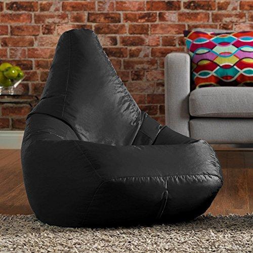 Hi-BagZ wasserabweisender Sitzsack für den Außengebrauch, Schwarz