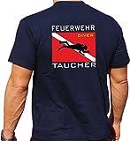 T-Shirt navy, 'Feuerwehr Taucher' mit Diver Flagge