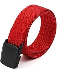 """3ZHIYI Hebilla de plástico Nylon Cinturones Reticulados Hombre Ligero Estilo militar 49,2 """" Per Donne Uomini Unisex"""