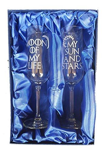 Game of Thrones inspiriert My Sonne und Mond, Sterne Of My Life Paar Champagner Flöten