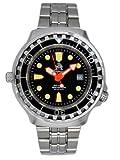 Taucher Uhr m. Automatik Werk Saphir Glas Edelstahl Band Helium Ventil T0079M