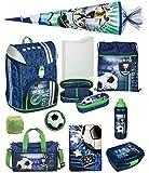 Familando Fußball Schulranzen-Set Scooli FlexMax 10tlg. mit Sporttasche, Schultüte 85cm groß und Regenschutz