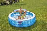 Relaxen im eigenen Garten / Swim-Center Family Lounge Pool mit Sitzbank / ca. 224 x 216 x 76 cm /...