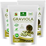 Graviola comprimés 360 x 2000mg extrait de fruit 4:1 végétalien, produit de qualité de MoriVeda (3x120 Tabs)