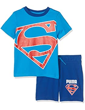 Puma Conjunto de Superman para ni&ntilde, Infantil, Style Superman Set, French Blue, 92