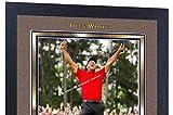 SGH SERVICES Nouveau! Affiche encadrée Tiger Woods 2019 Masters Tournament dédicacé Photo Print Legend Golf Memorabilia pré-imprimée Cadre en MDF