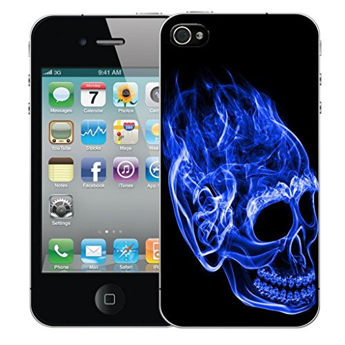 Nouveau iPhone 5 clip on Dur Coque couverture case cover Pare-chocs - humingbird vert Motif avec Stylet inferno skull blue