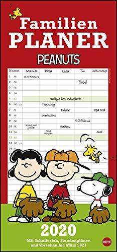 Peanuts Familienplaner 2020 21x45cm (Comic-buch-kalender)