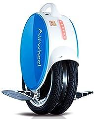 AIRWHEEL Q5monociclo eléctrico con luces LED y mejorada silicona pierna Pad, azul