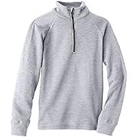 Odlo Originals Warm - Camiseta térmica para niña o niño (manga larga, cuello alto, con cremallera) gris gris Talla:152 cm