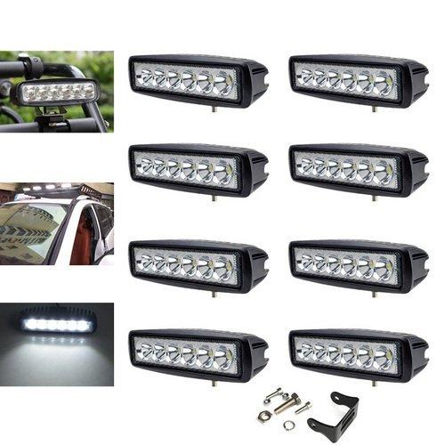VINGO® 8x 18W LED Arbeitsscheinwerfer Aluminium Arbeitslicht für werkstatt 10-30 V DC