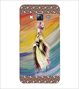 PrintDhaba Animated Girl Sketch D-3580 Back Case Cover for SAMSUNG GALAXY A3 (Multi-Coloured)