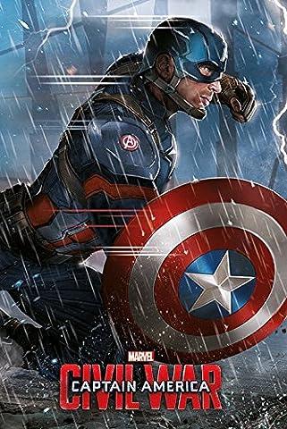 Spider-man Dans La Guerre Civile - Poster Maxi Captain America