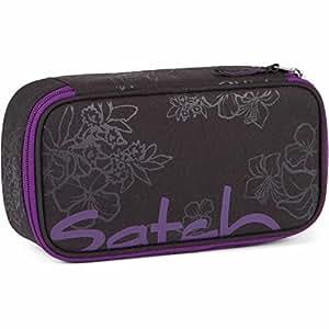 Satch Schlamperbox Purple Hibiscus 9C6 schwarz lila