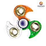 #3: PNT Tri Colour Indian Flag Leaf Edge Metal Spinner (Independence Day Limited Edition)
