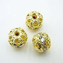 thetastejewelry 7x 8mm Spacer oro tono–Lot 25pcs cuenta para pulsera joyas de acabados–-2132