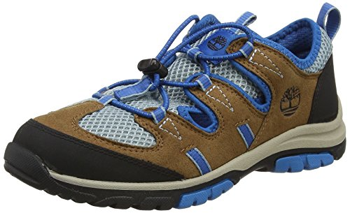 Timberland Unisex-Kinder Zip Trail Fishermanbrown Geschlossene Sandalen, Braun (Brown/Blue), 32 EU