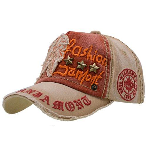 Baumwolle Baseball Cap, Basecap - iParaAiluRy Unisex Baseball Kappen, Baseball Mützen für Draussen, Sport oder auf Reisen - Letter Patch Nieten Lässig Kappe, Mütze (Hart, Hut, Zubehör)