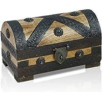 Brynnberg - Caja de Madera Cofre del Tesoro Pirata de Estilo Vintage, Hecha a Mano, Diseño Retro 20x11x11cm - Muebles de Dormitorio precios