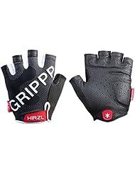 Guantes de ciclismo unisex dedos cortos HIRZL Grippp tour 2.0 (Blanco/Negro, Talla XXL / 11)