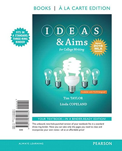 Ideas & Aims for College Writing: MLA Update
