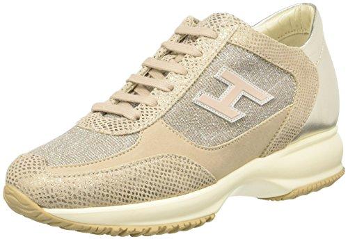 Hogan Hxw00n03242foq0h04, Sneakers basses femme Multicolore (Platino/Zenzero)