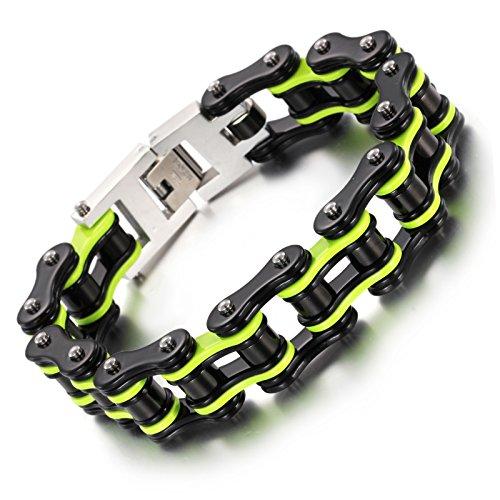 YSM pulsera de acero inoxidable pulsera de la cadena de la motocicleta...