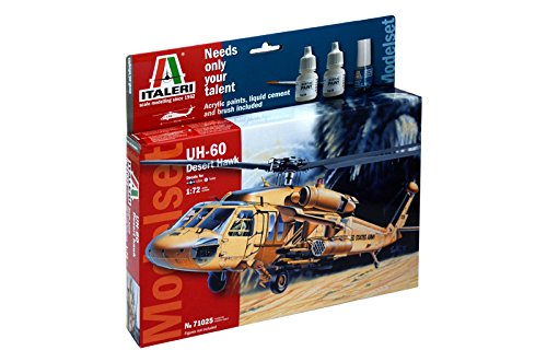 Italeri 71025 - model set: uh 60 desert hawk  1/72 model kit  scala 1:72
