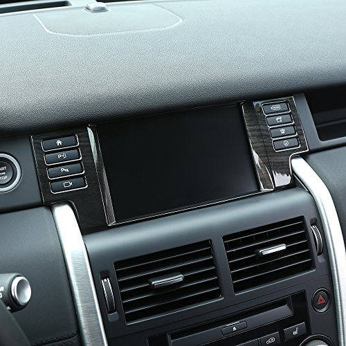 LCD-Navigation Box Rahmen Cover Trim für Discovery Sport Car Accessories ABS Holz Chrom Aufkleber 2015+ (Holz Trim-boxen)