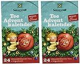 Image of Sonnentor Tee Adventskalender Edition 2019 mit 24 Aufgussbeutel Bio, 2er Pack (2 x 37,5 g)