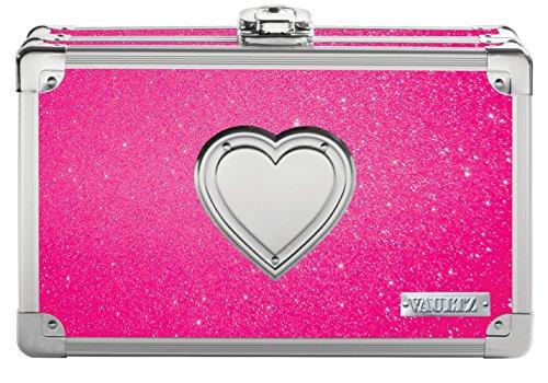 Vaultz VZ00692 abschließbare Zubehörbox, Tarnmuster Pink. 1 Packung Pink Bling with Heart Pink Hearts Bling