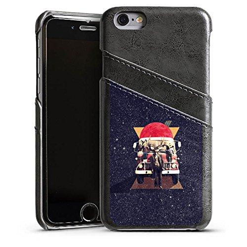 Apple iPhone 6 Housse Étui Silicone Coque Protection Cerf Hipster Chevreuil Étui en cuir gris