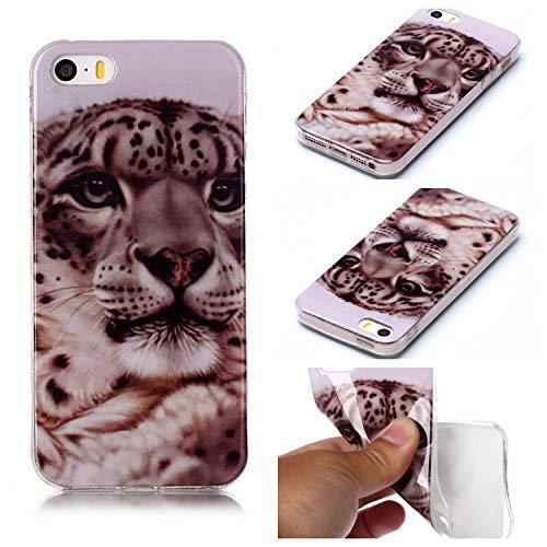 Klassikaline® iPhone 5G Hülle, Handy-Hülle/TPU Silikon Schutzhülle/Etui Protective/Case/Cover/Silikon hülle/Schutz-Cover für iPhone 5G - Leopard (Leopard Handy Cover Für Iphone 5)