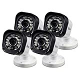 Swann SRPRO-T835BWB4-Uk PRO-T835 720p HD CCTV Bullet Security Surveillance Camera 4 PACK