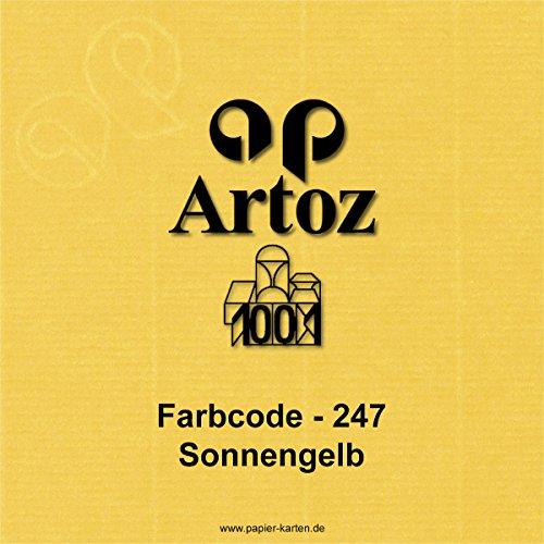 50x original ARTOZ Tischkarten // SERIE 1001 // 100 x 90 mm // Sonnengelb // +alle Farben - 2